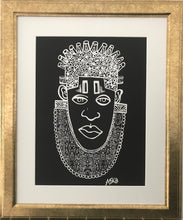 Load image into Gallery viewer, IDIA Ancient African Inspired A3 Giclée Art Print in Black
