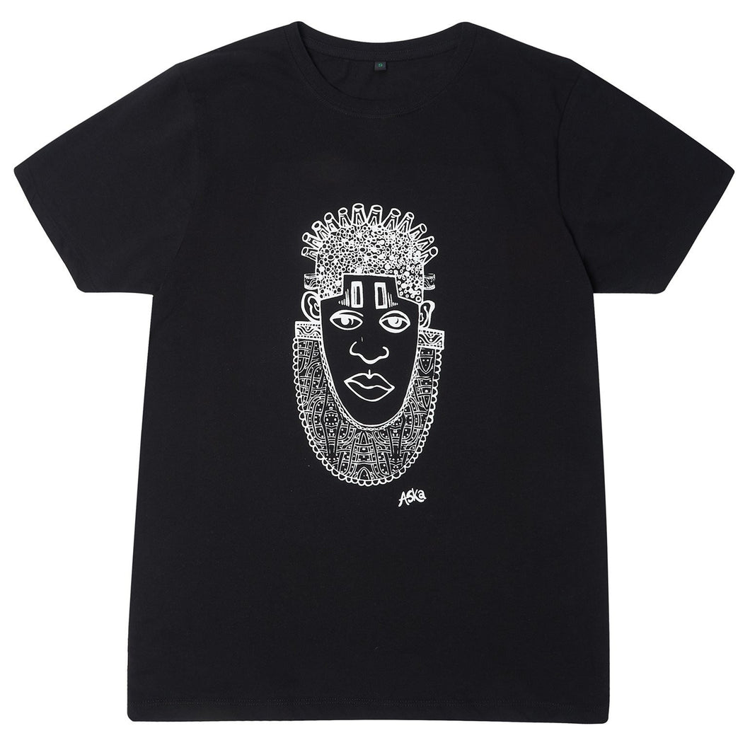 IDIA ART EARTH POSITIVE TEE- WHITE ON BLACK