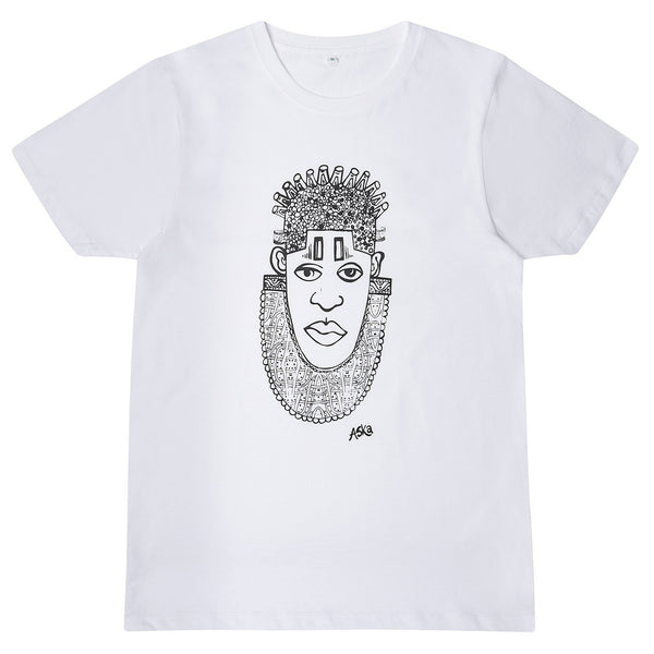 IDIA ART EARTH POSITIVE TEE- BLACK ON WHITE