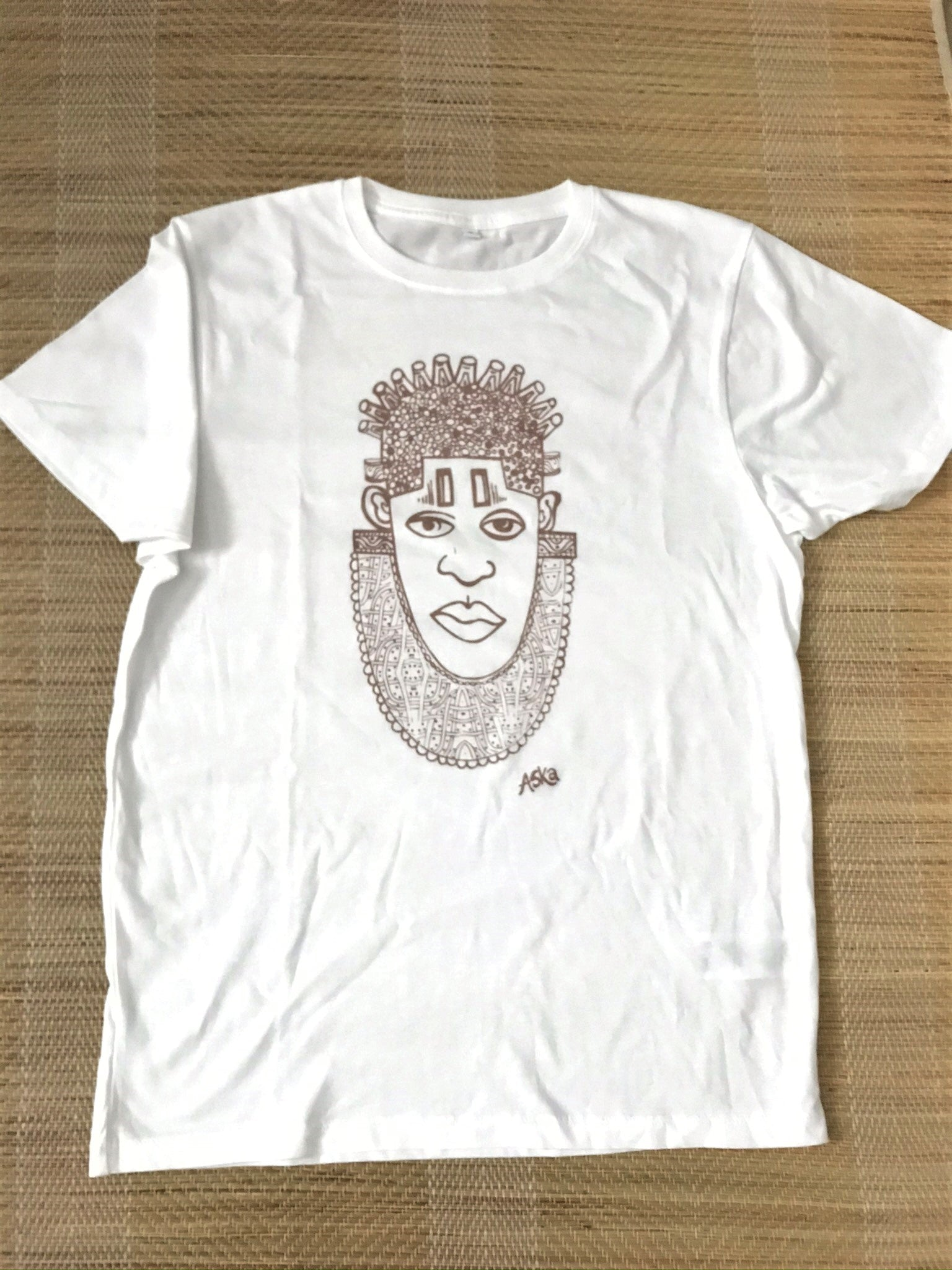 IDIA ART EARTH POSITIVE TEE- ROSEGOLD ON WHITE TEE