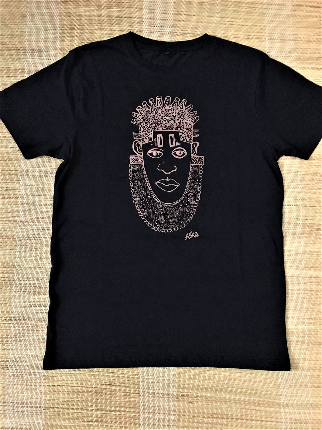 IDIA ART EARTH POSITIVE TEE- ROSEGOLD ON BLACK TEE
