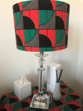 Load image into Gallery viewer, AFROBRIT FUSION  LAMPSHADE- BOLD SEMI ARCS ANKARA FABRIC