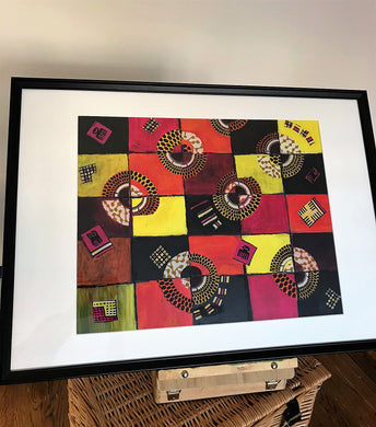 TIMELESS Recycled Ankara Fabric Art
