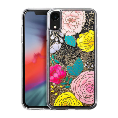 GLITTER FLORAL for iPhone XR - LAUT Japan