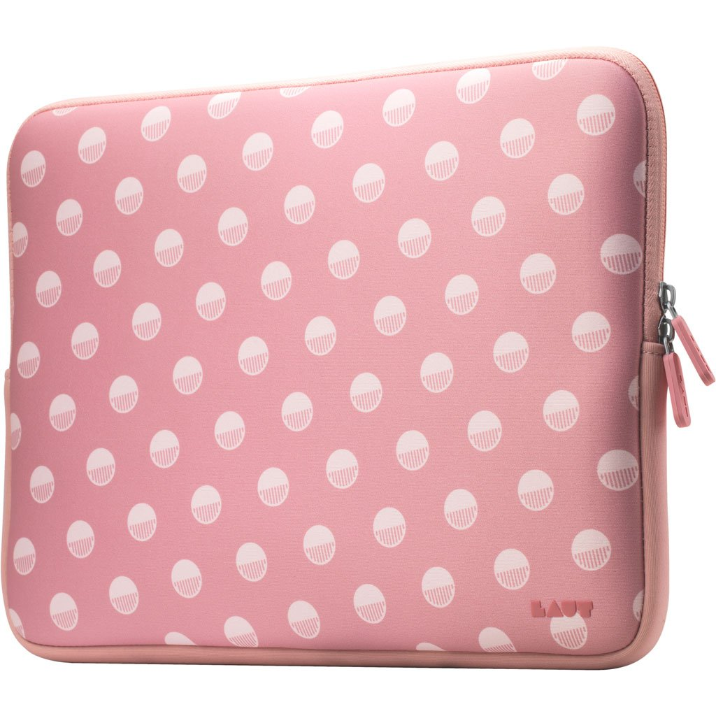 POP Polka Pink Protective Sleeve for Macbook 13-inch - LAUT Japan