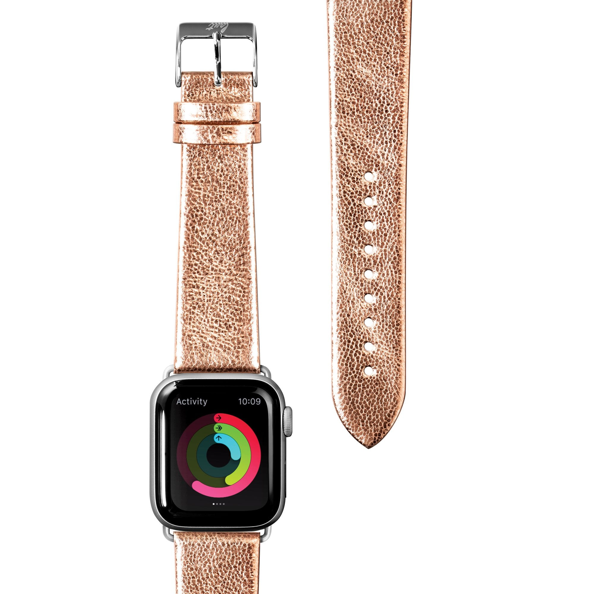 METALLIC Leather Watch Strap for Apple Watch Series 1/2/3/4/5 - LAUT Japan