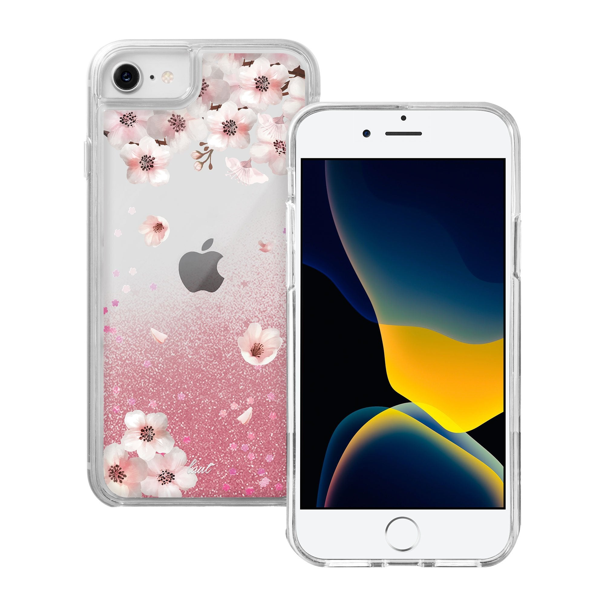 Liquid GLITTER SAKURA case for iPhone SE 2020 / iPhone 8/7 - LAUT Japan