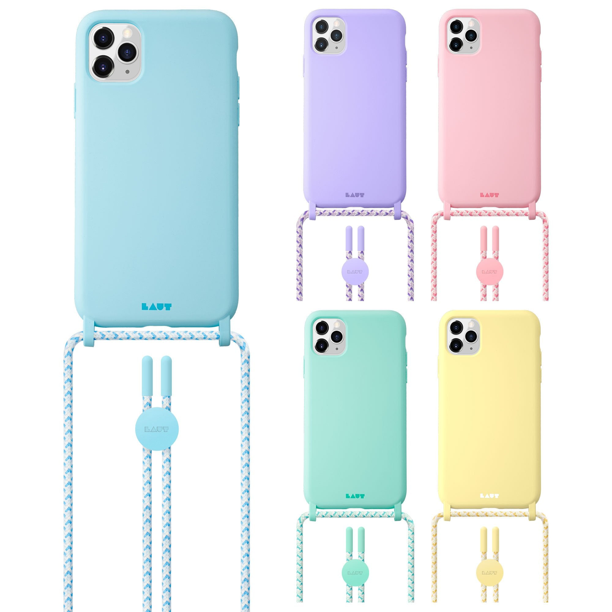 HUEX PASTELS NECKLACE case for iPhone 12 series