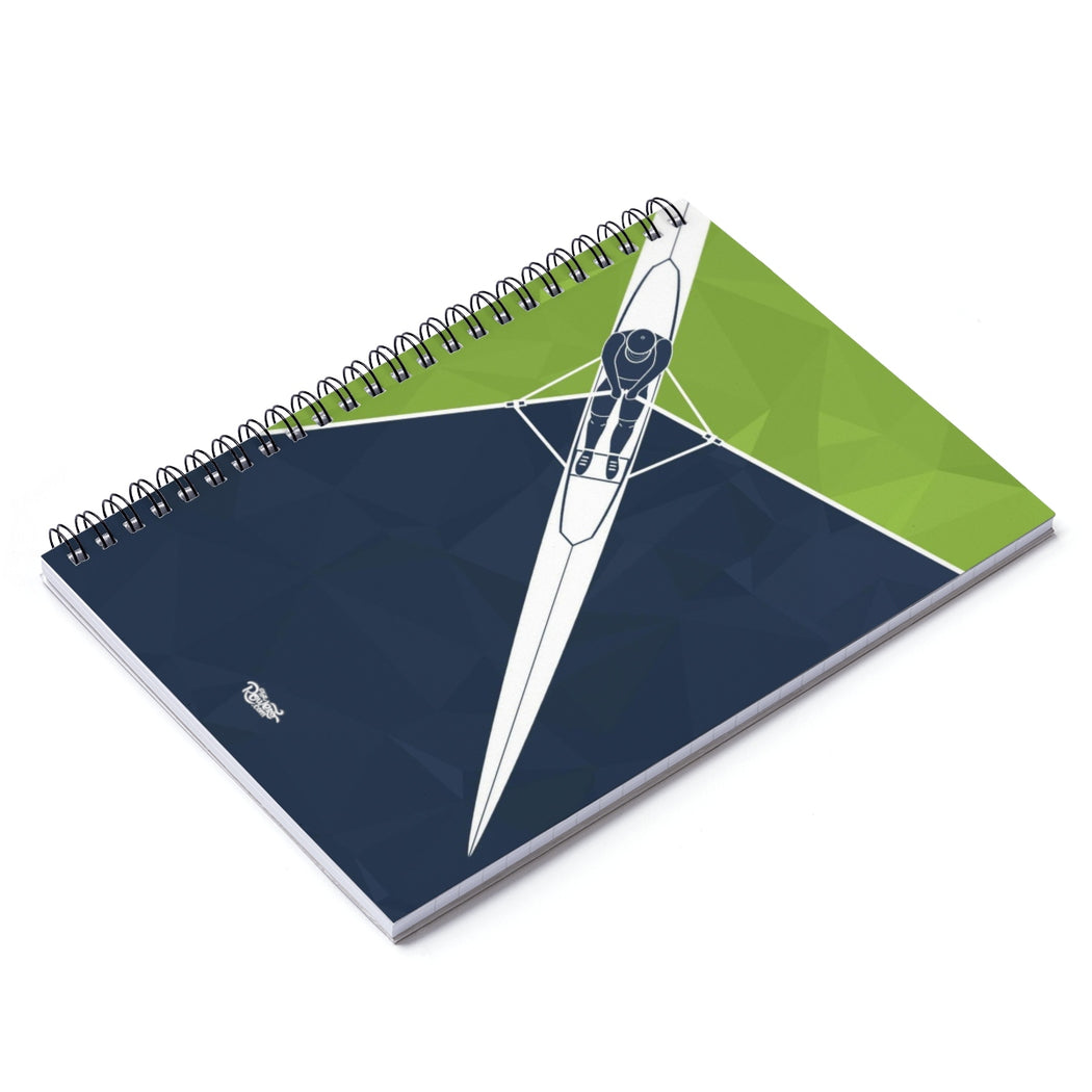 Spiral Notebook - Ruled Line - Skiff Green