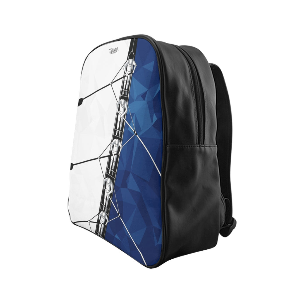 School Backpack Blue Boat
