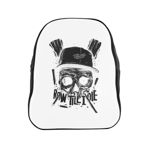 School Backpack - Scull b/w