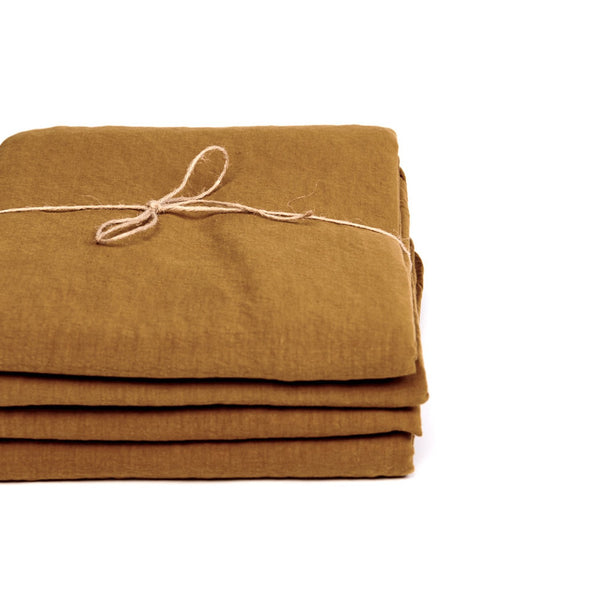 Coco Linen - Amber Fitted Sheet