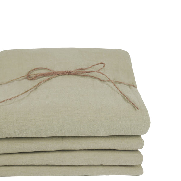 Coco Linen - Moss Fitted sheet