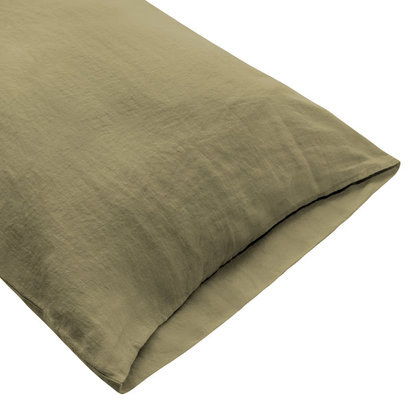 Coco Linen - Olive Pillowcase Set