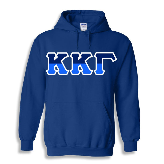 Kappa Kappa Gamma Two Toned Lettered Hooded Sweatshirt