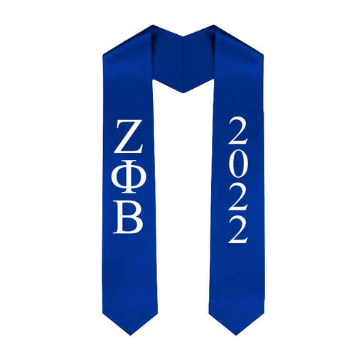 Zeta Phi Beta Vertical Grad Stole with Letters & Year