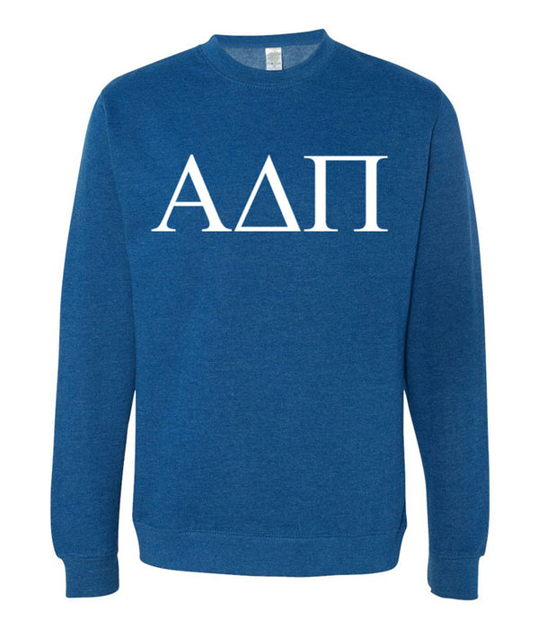 Alpha Delta Pi World Famous Lettered Crewneck Sweatshirt