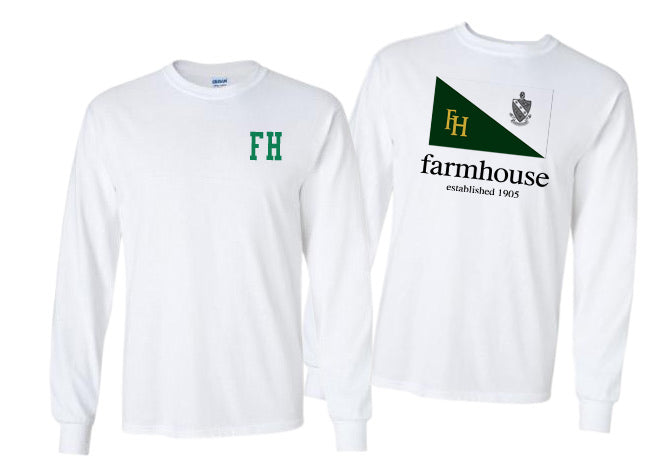 Farmhouse Long Sleeve Flag Tee