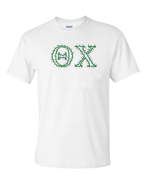 Theta Chi Holiday Lights Crew Tee