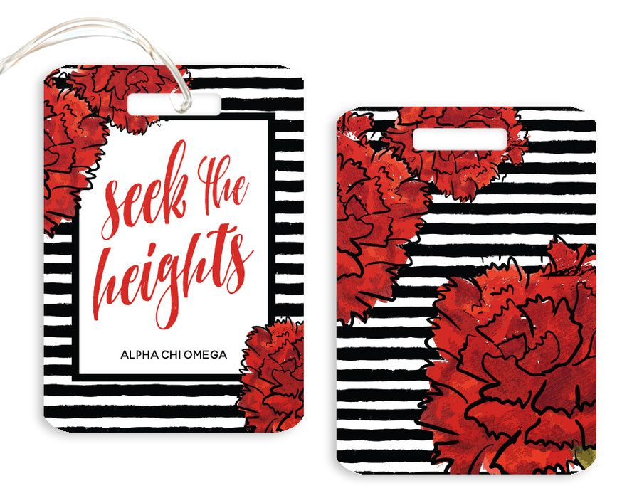Default Floral Motto Luggage Tag