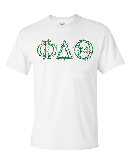 Phi Delta Theta Holiday Lights Crew Tee
