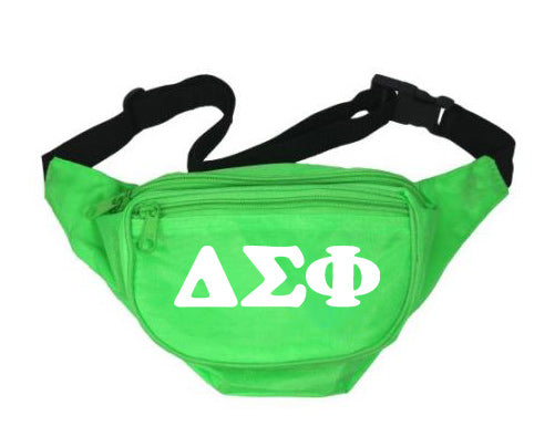 Delta Sigma Phi Fanny Pack Letters Layered Fanny Pack