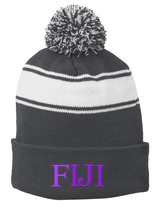 Phi Gamma Delta Embroidered Pom Pom Beanie