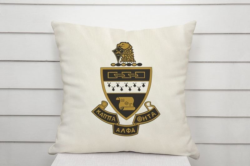 Kappa Alpha Theta Linen Shield Throw Pillow