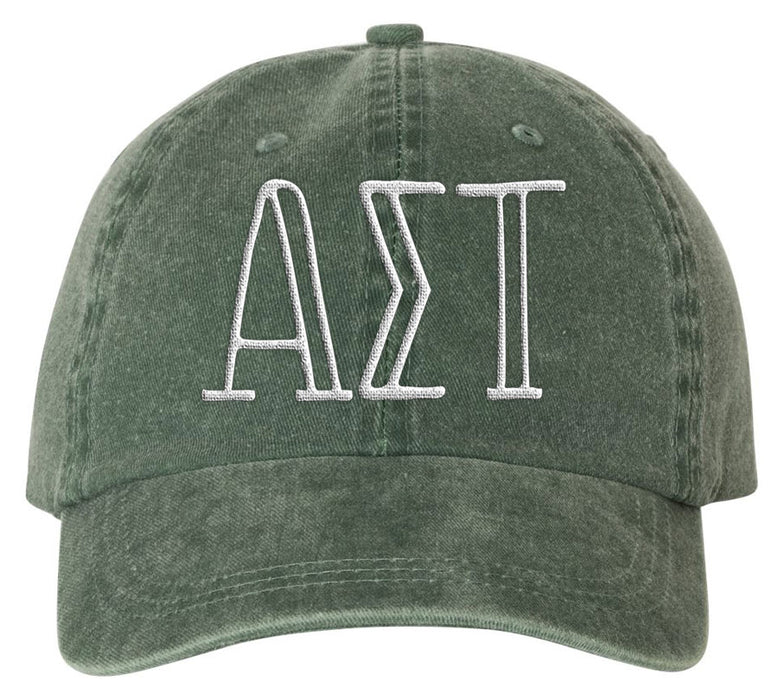 Alpha Sigma Tau Sorority Greek Carson Embroidered Hat