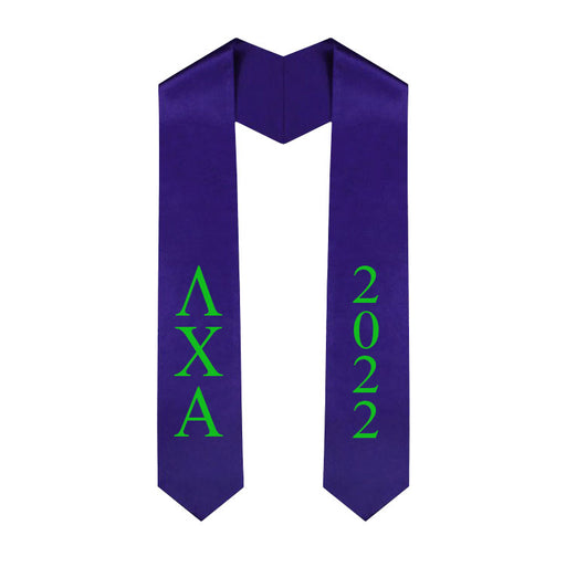 Lambda Chi Alpha Vertical Grad Stole with Letters & Year