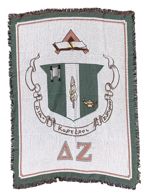 Delta Zeta Afghan Blanket Throw