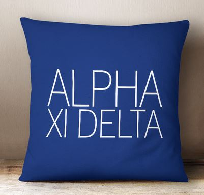 Alpha Xi Delta Simple Text Throw Pillow