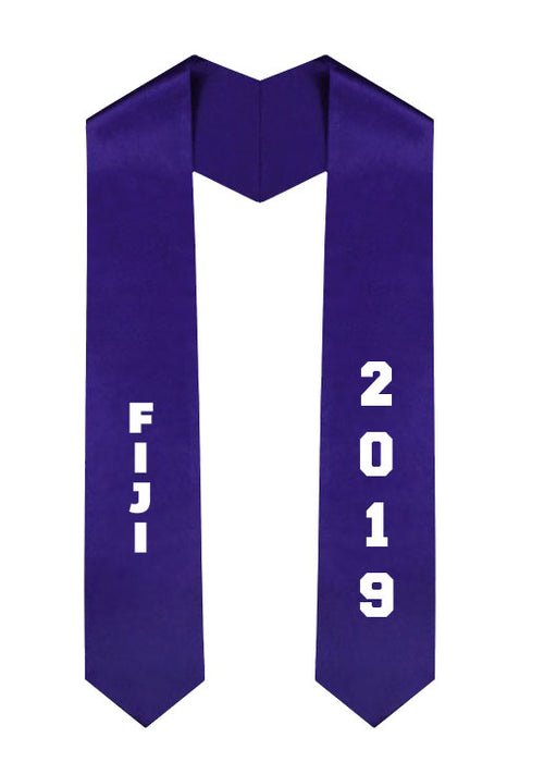 Phi Gamma Delta Slanted Grad Stole with Letters & Year