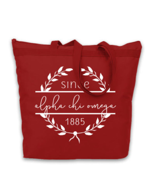 Alpha Chi Omega Since Established Tote