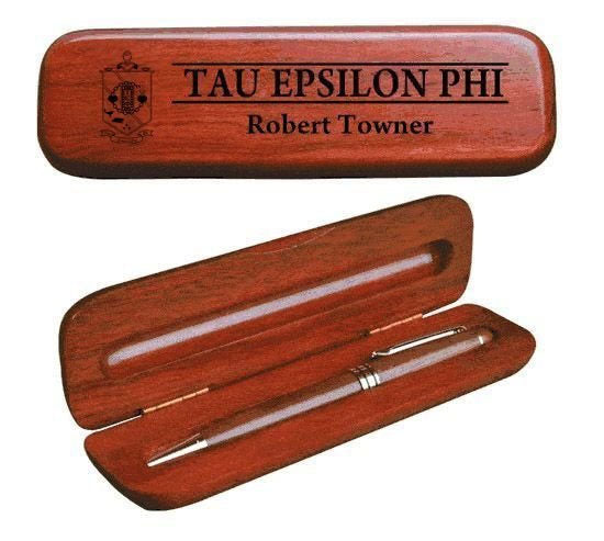 Tau Epsilon Phi Wooden Pen Case & Pen