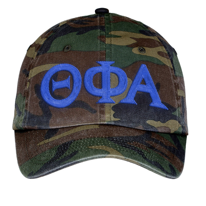 Theta Phi Alpha Letters Embroidered Camouflage Hat