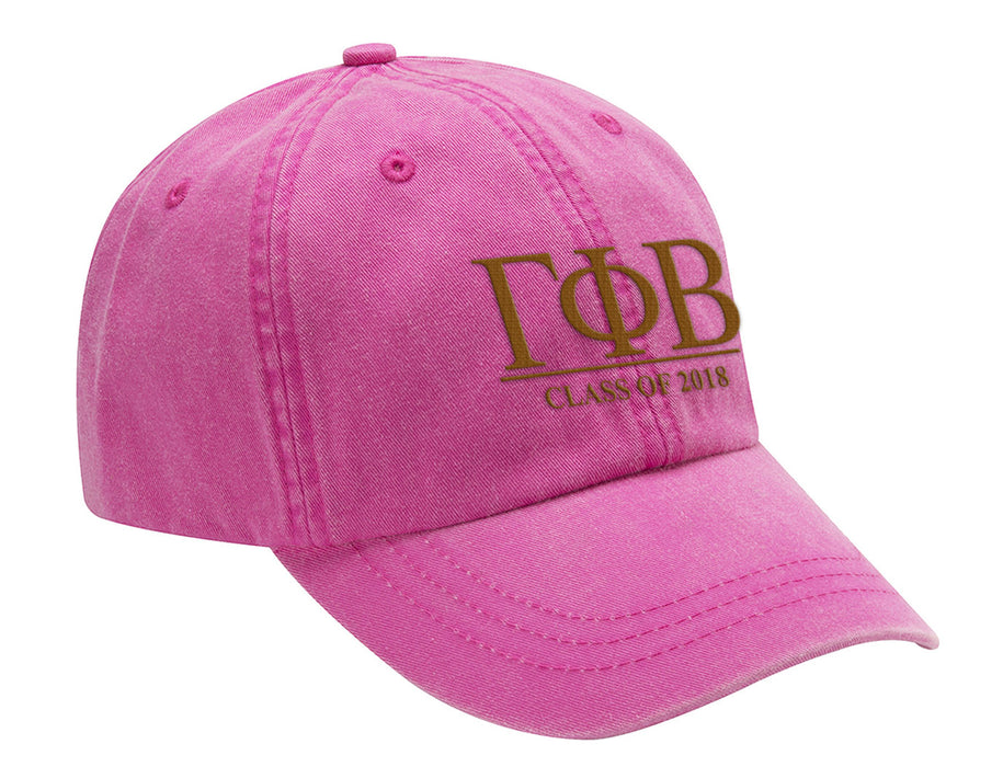 Gamma Phi Beta Embroidered Hat with Custom Text