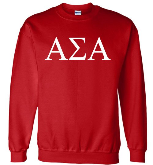 Alpha Sigma Alpha World Famous Lettered Crewneck Sweatshirt