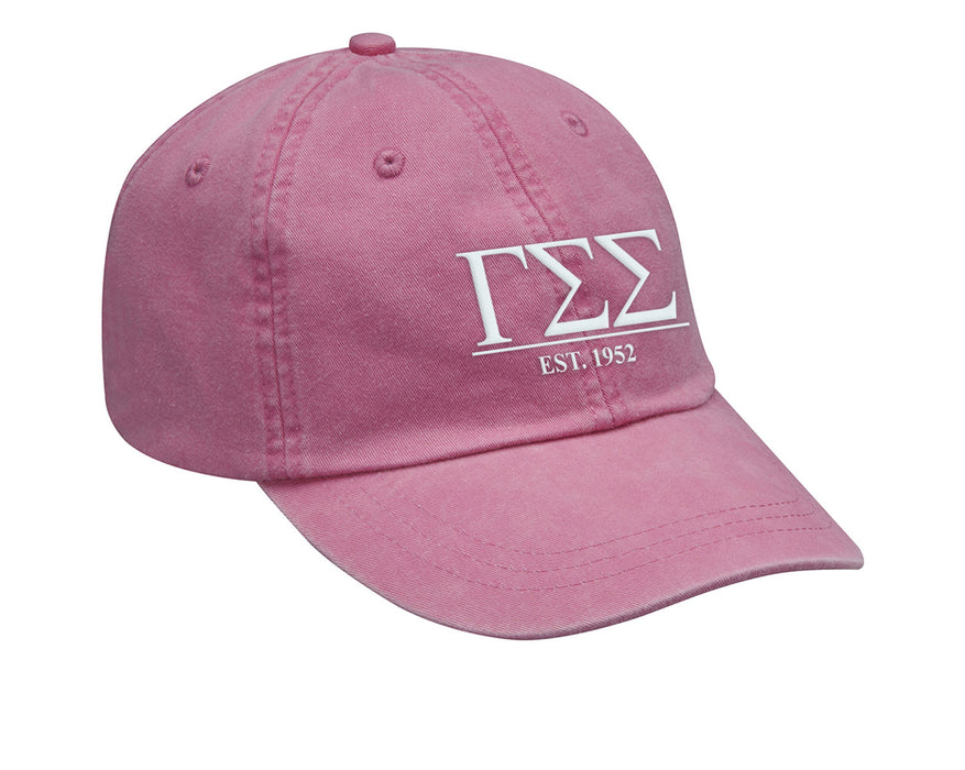 Gamma Sigma Sigma Letters Year Embroidered Hat