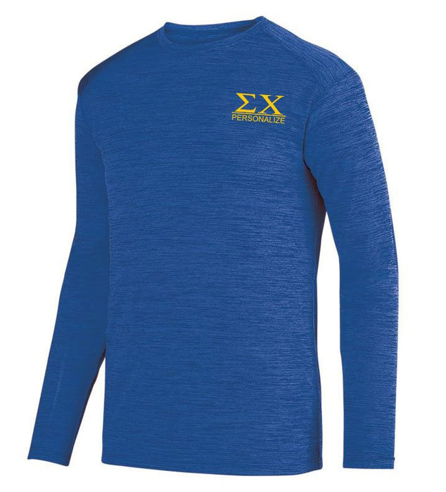 Sigma Chi $20 World Famous Dry Fit Tonal Long Sleeve Tee