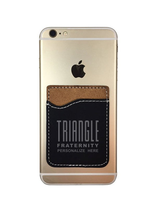 Triangle Engraved Phone Wallet