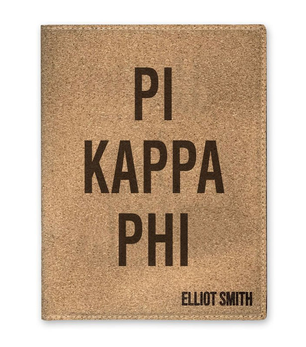 Pi Kappa Phi Cork Portfolio with Notepad