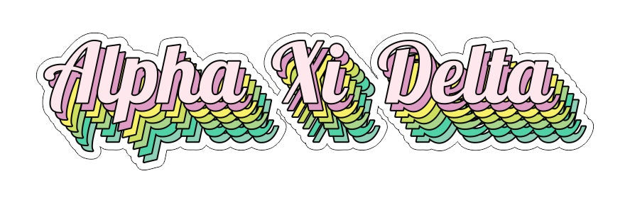 Alpha Xi Delta New Hip Stepped Sticker