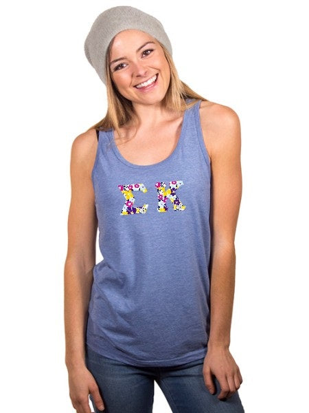 Sigma Kappa Unisex Tank Top with Sewn-On Letters