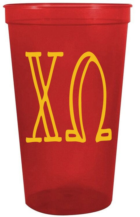 Chi Omega Inline Giant Plastic Cup