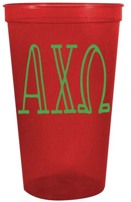 Alpha Chi Omega Inline Giant Plastic Cup