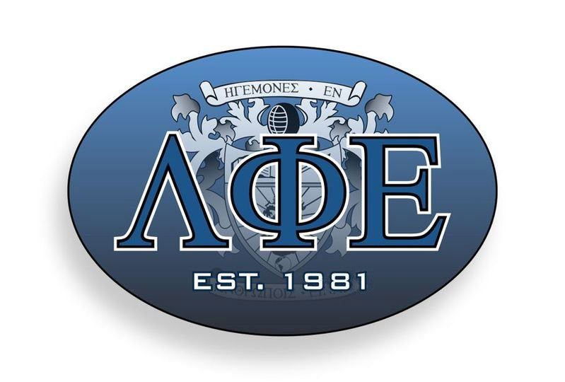 Lambda Phi Epsilon Color Oval Decal Color Oval Decal