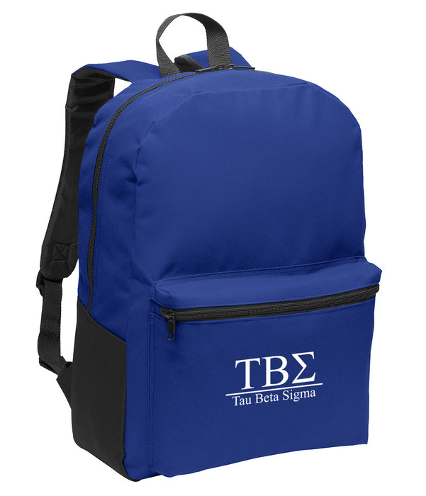 Tau Beta Sigma Collegiate Embroidered Backpack