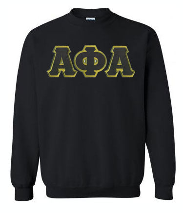 Alpha Phi Alpha Classic Colors Sewn-On Letter Crewneck