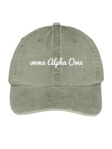 Gamma Alpha Omega Nickname Embroidered Hat